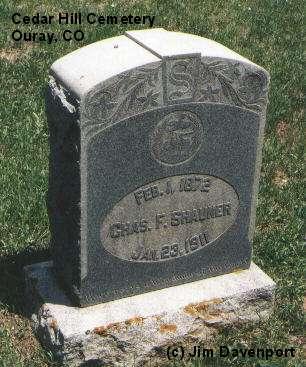 SHAUNER, CHAS. F. - Ouray County, Colorado   CHAS. F. SHAUNER - Colorado Gravestone Photos