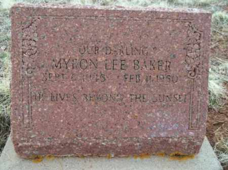 BAKER, MYRON LEE - Park County, Colorado | MYRON LEE BAKER - Colorado Gravestone Photos