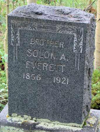 EVERETT, SOLON A. - Park County, Colorado | SOLON A. EVERETT - Colorado Gravestone Photos