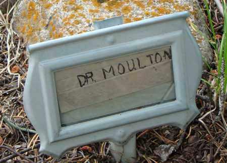 MOULTON, DR. G.A. - Park County, Colorado | DR. G.A. MOULTON - Colorado Gravestone Photos