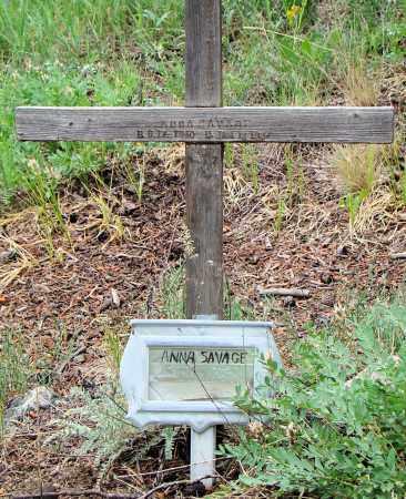 SAVAGE, ANNA - Park County, Colorado | ANNA SAVAGE - Colorado Gravestone Photos