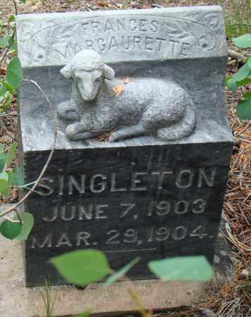 SINGLETON, FRANCES MARGAURETTE - Park County, Colorado | FRANCES MARGAURETTE SINGLETON - Colorado Gravestone Photos