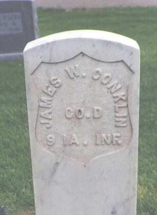 CONKLIN, JAMES W. - Phillips County, Colorado | JAMES W. CONKLIN - Colorado Gravestone Photos