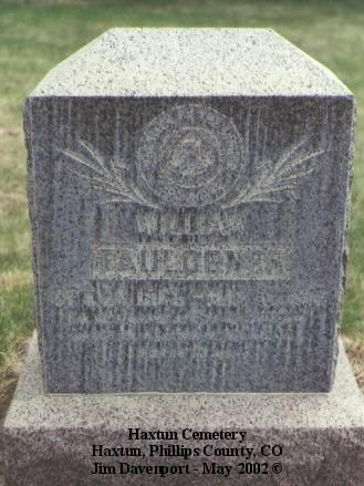 FAULCONER, WILLIAM - Phillips County, Colorado | WILLIAM FAULCONER - Colorado Gravestone Photos