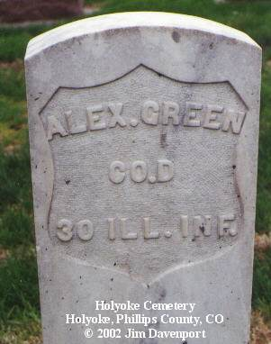 GREEN, ALEX - Phillips County, Colorado | ALEX GREEN - Colorado Gravestone Photos