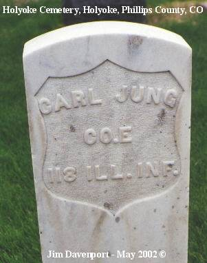 JUNG, CARL - Phillips County, Colorado | CARL JUNG - Colorado Gravestone Photos