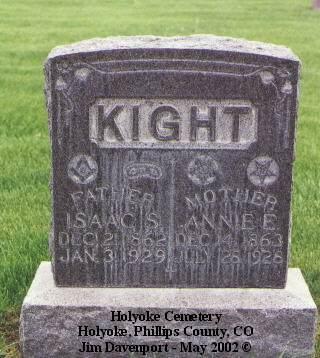 KIGHT, ISAAC S. - Phillips County, Colorado   ISAAC S. KIGHT - Colorado Gravestone Photos