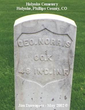 NORRIS, GEO. - Phillips County, Colorado   GEO. NORRIS - Colorado Gravestone Photos
