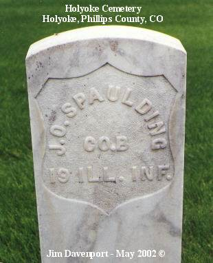 SPAULDING, J. O. - Phillips County, Colorado   J. O. SPAULDING - Colorado Gravestone Photos