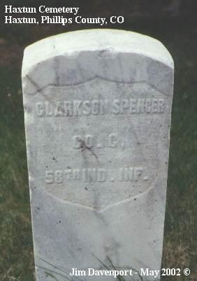 SPENCER, CLARKSON - Phillips County, Colorado   CLARKSON SPENCER - Colorado Gravestone Photos