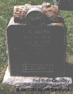 BELSH, G. S. - Pitkin County, Colorado | G. S. BELSH - Colorado Gravestone Photos