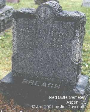 BREACH, WALTER H. - Pitkin County, Colorado | WALTER H. BREACH - Colorado Gravestone Photos