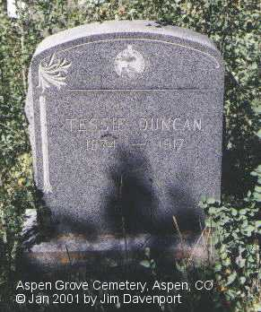 DUNCAN, TESSIE - Pitkin County, Colorado | TESSIE DUNCAN - Colorado Gravestone Photos
