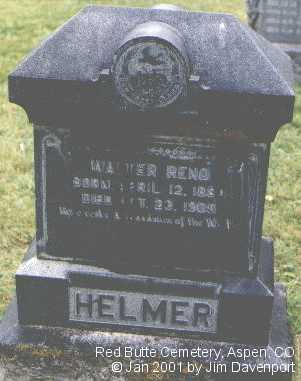 HELMER, WALTER RENO - Pitkin County, Colorado | WALTER RENO HELMER - Colorado Gravestone Photos
