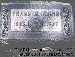 IRVING, FRANCES - Pitkin County, Colorado | FRANCES IRVING - Colorado Gravestone Photos