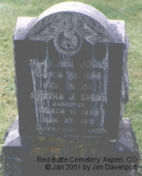 JOHNS SHORT, BERTHA J. - Pitkin County, Colorado   BERTHA J. JOHNS SHORT - Colorado Gravestone Photos