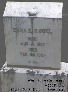 KISSEL, EMMA E. - Pitkin County, Colorado | EMMA E. KISSEL - Colorado Gravestone Photos