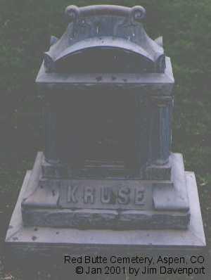 KRUSE, ALMIRA - Pitkin County, Colorado   ALMIRA KRUSE - Colorado Gravestone Photos