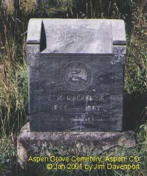 MACKENZIE, L. M. - Pitkin County, Colorado | L. M. MACKENZIE - Colorado Gravestone Photos