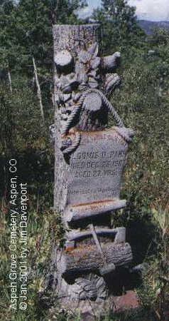PARK, LOOMIS D. - Pitkin County, Colorado | LOOMIS D. PARK - Colorado Gravestone Photos