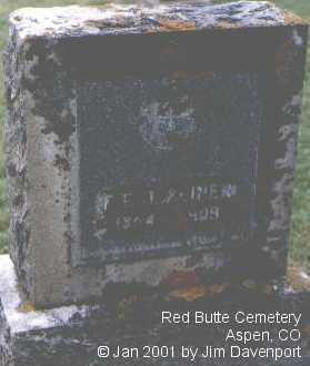 REINER, F. F. J. - Pitkin County, Colorado | F. F. J. REINER - Colorado Gravestone Photos