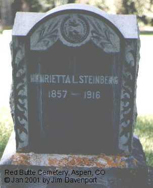 STEINBERG, HENRIETTA - Pitkin County, Colorado | HENRIETTA STEINBERG - Colorado Gravestone Photos