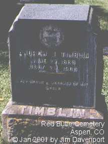 TIMBLIN, ANDREW J. - Pitkin County, Colorado   ANDREW J. TIMBLIN - Colorado Gravestone Photos