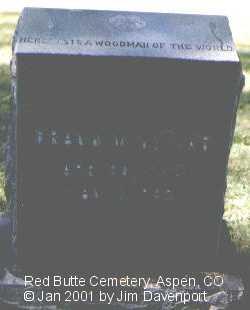 WALTER, FRANK M. - Pitkin County, Colorado | FRANK M. WALTER - Colorado Gravestone Photos