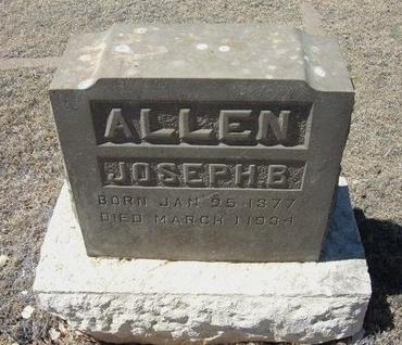 ALLEN, JOSEPH B - Prowers County, Colorado | JOSEPH B ALLEN - Colorado Gravestone Photos