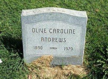 ANDREWS, OLIVE CAROLINE - Prowers County, Colorado | OLIVE CAROLINE ANDREWS - Colorado Gravestone Photos