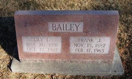 BAILEY, LILEY I - Prowers County, Colorado   LILEY I BAILEY - Colorado Gravestone Photos