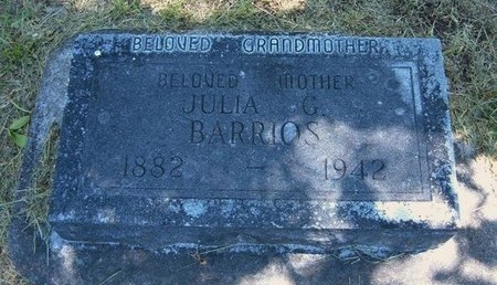 BARRIOS, JULIA G - Prowers County, Colorado | JULIA G BARRIOS - Colorado Gravestone Photos