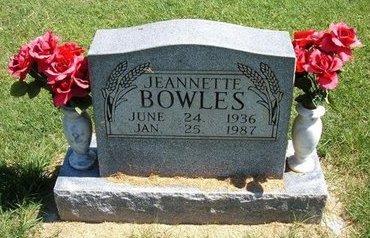 BOWLES, JEANNETTE - Prowers County, Colorado | JEANNETTE BOWLES - Colorado Gravestone Photos