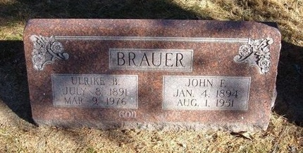 BRAUER, JOHN F - Prowers County, Colorado | JOHN F BRAUER - Colorado Gravestone Photos