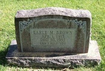 BROWN, EARL M - Prowers County, Colorado   EARL M BROWN - Colorado Gravestone Photos