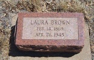 BROWN, LAURA - Prowers County, Colorado | LAURA BROWN - Colorado Gravestone Photos