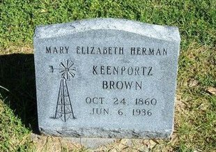 BROWN, MARY ELIZABETH KEENPPORTZ - Prowers County, Colorado | MARY ELIZABETH KEENPPORTZ BROWN - Colorado Gravestone Photos