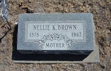 BROWN, NELLIE K - Prowers County, Colorado   NELLIE K BROWN - Colorado Gravestone Photos