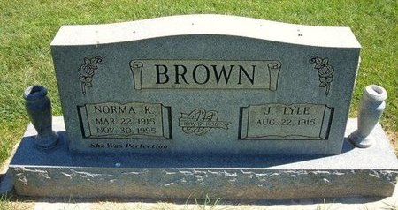 BROWN, NORMA KATHLEEN - Prowers County, Colorado | NORMA KATHLEEN BROWN - Colorado Gravestone Photos