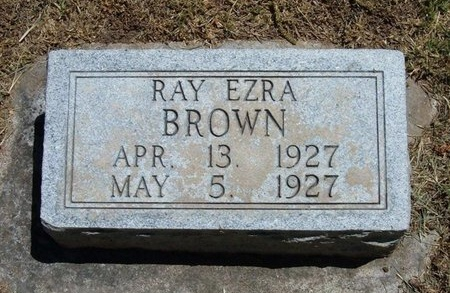 BROWN, RAY EZRA - Prowers County, Colorado | RAY EZRA BROWN - Colorado Gravestone Photos