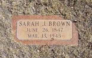 JOHNS BROWN, SARAH J - Prowers County, Colorado   SARAH J JOHNS BROWN - Colorado Gravestone Photos