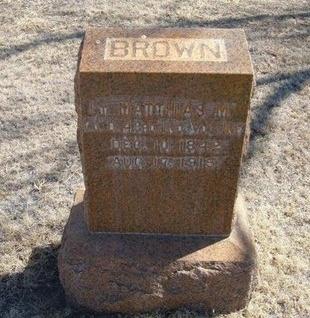 BROWN (VETERAN UNION), MATHIAS M - Prowers County, Colorado | MATHIAS M BROWN (VETERAN UNION) - Colorado Gravestone Photos
