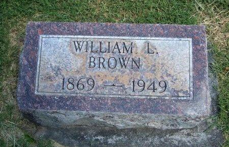 BROWN, WILLIAM L - Prowers County, Colorado | WILLIAM L BROWN - Colorado Gravestone Photos