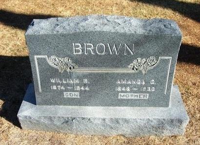 BROWN, AMANDA C - Prowers County, Colorado | AMANDA C BROWN - Colorado Gravestone Photos