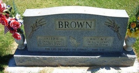 BROWN, WALLACE - Prowers County, Colorado | WALLACE BROWN - Colorado Gravestone Photos
