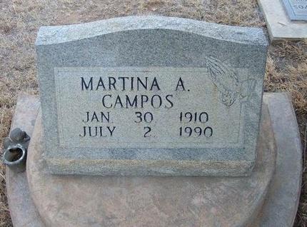 CAMPOS, MARTINA A - Prowers County, Colorado | MARTINA A CAMPOS - Colorado Gravestone Photos