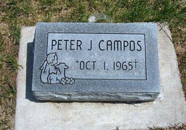 CAMPOS, PETER J - Prowers County, Colorado   PETER J CAMPOS - Colorado Gravestone Photos