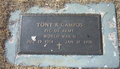 CAMPOS (VETERAN WWII), TONY R - Prowers County, Colorado | TONY R CAMPOS (VETERAN WWII) - Colorado Gravestone Photos