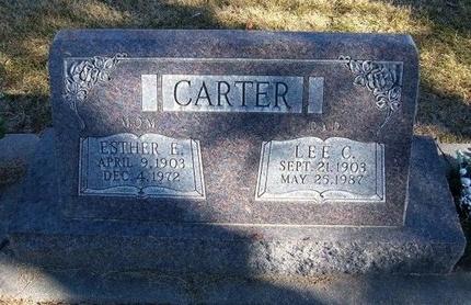 CARTER, ESTHER EDITH - Prowers County, Colorado   ESTHER EDITH CARTER - Colorado Gravestone Photos