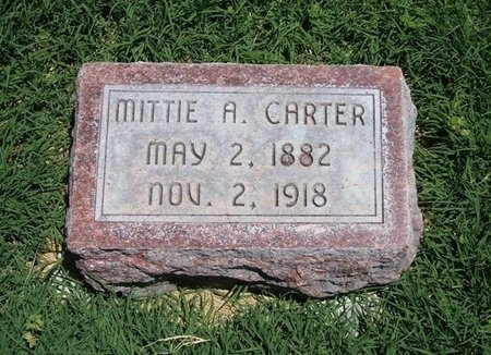CARTER, MITTIE A - Prowers County, Colorado | MITTIE A CARTER - Colorado Gravestone Photos